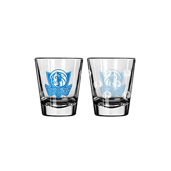 Dallas Mavericks 2 oz Satin Etch Shot Glass