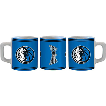 Dallas Mavericks Sublimated Mini Mug Shot Glass