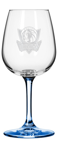 Dallas Mavericks 12 oz Wine Glass