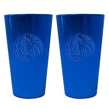 Dallas Mavericks 16 oz Glitter Ice Pint