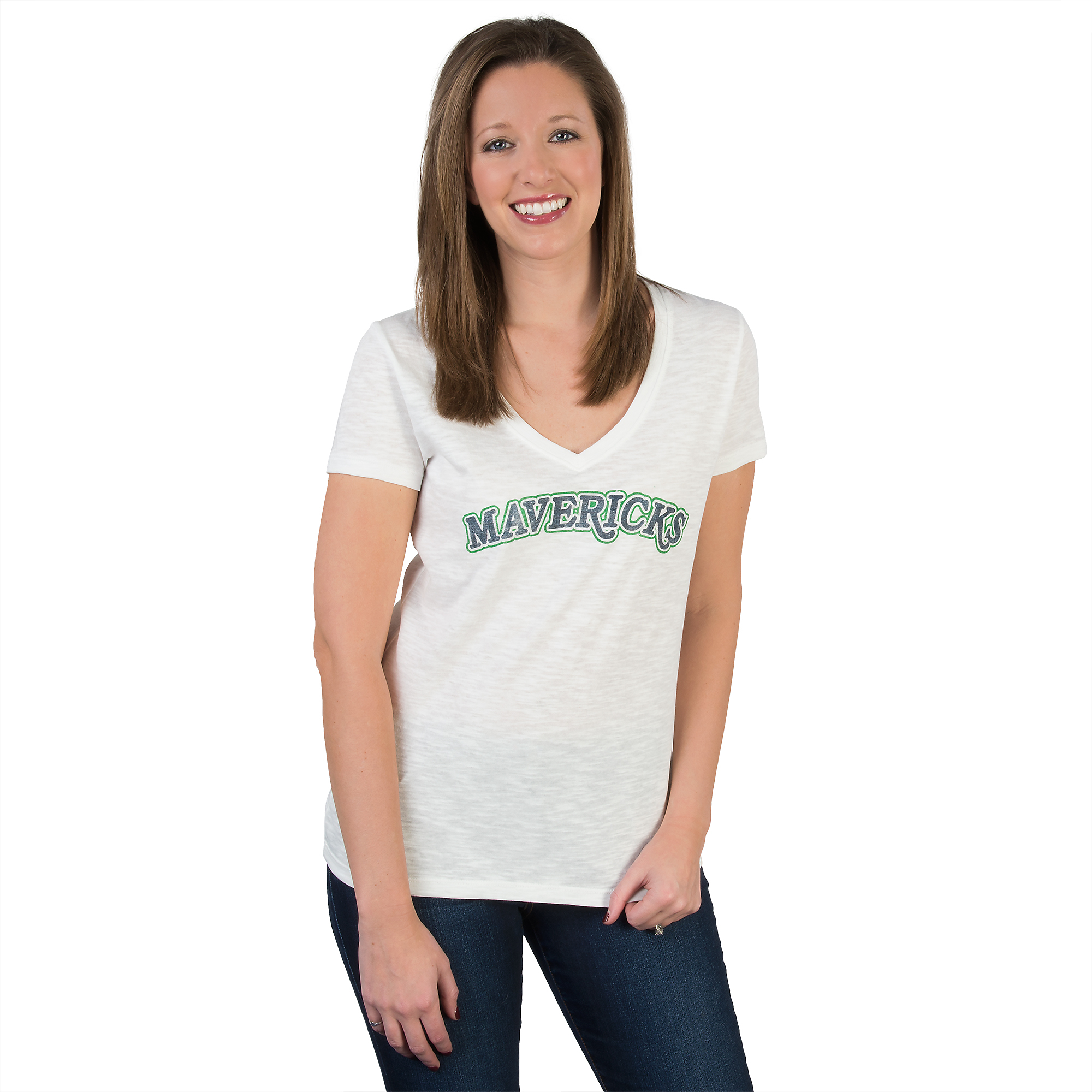 Dallas Mavericks 47 V-Neck Scrum Tee