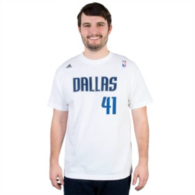 Dallas Mavericks Adidas Dirk Nowitzki #41 Tee