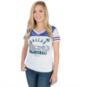 Dallas Mavericks Ladies G-III V-Neck Burnout Tee