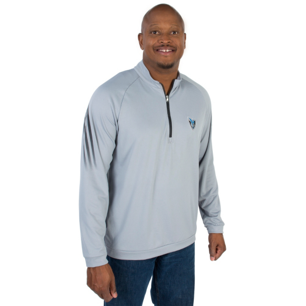 Dallas Mavericks Adidas Golf 3 Stripe Quarter Zip Pullover