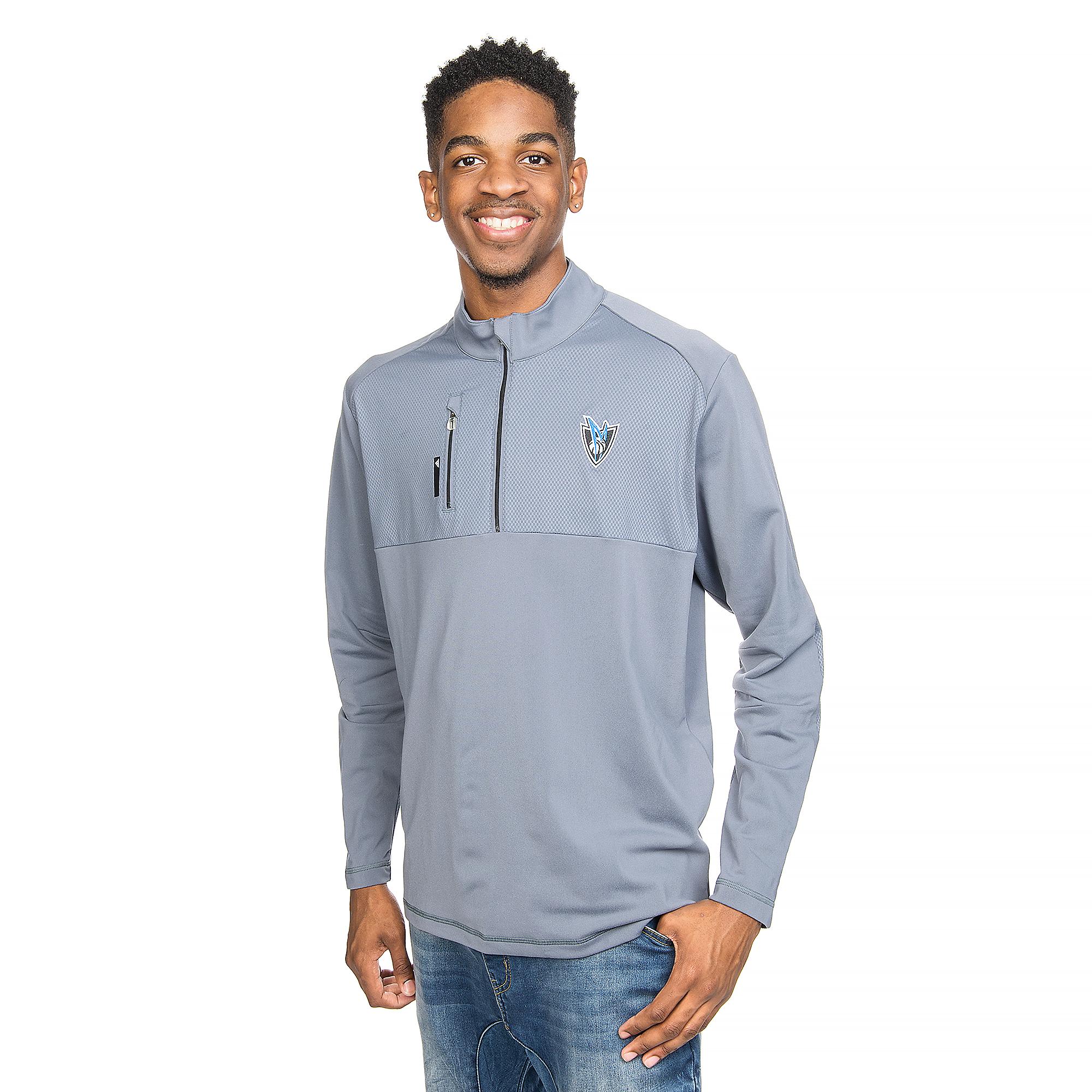 Dallas Mavericks Adidas Mixed Media 1/4 Zip Pullover