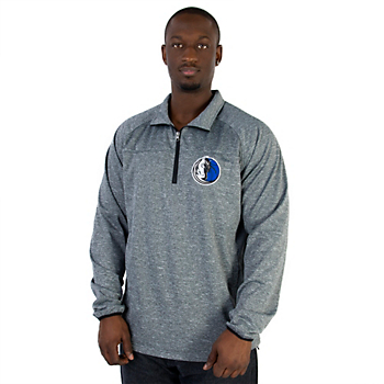Dallas Mavericks G-III Franchise Quarter Zip Fleece Pullover
