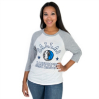 Dallas Mavericks Mitchell & Ness Womens Raglan Tee
