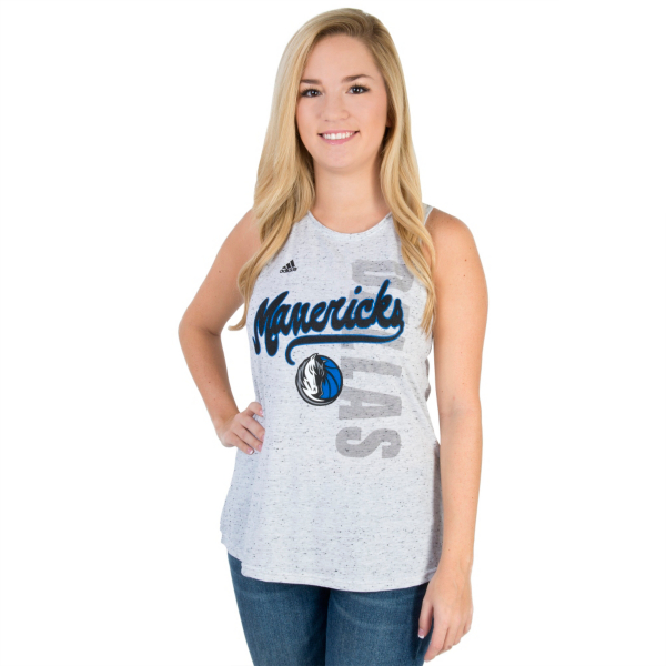 Dallas Mavericks Adidas Outline Script Tail Tank
