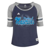 Dallas Mavericks Adidas Girls Hi-Lo Raglan Tee