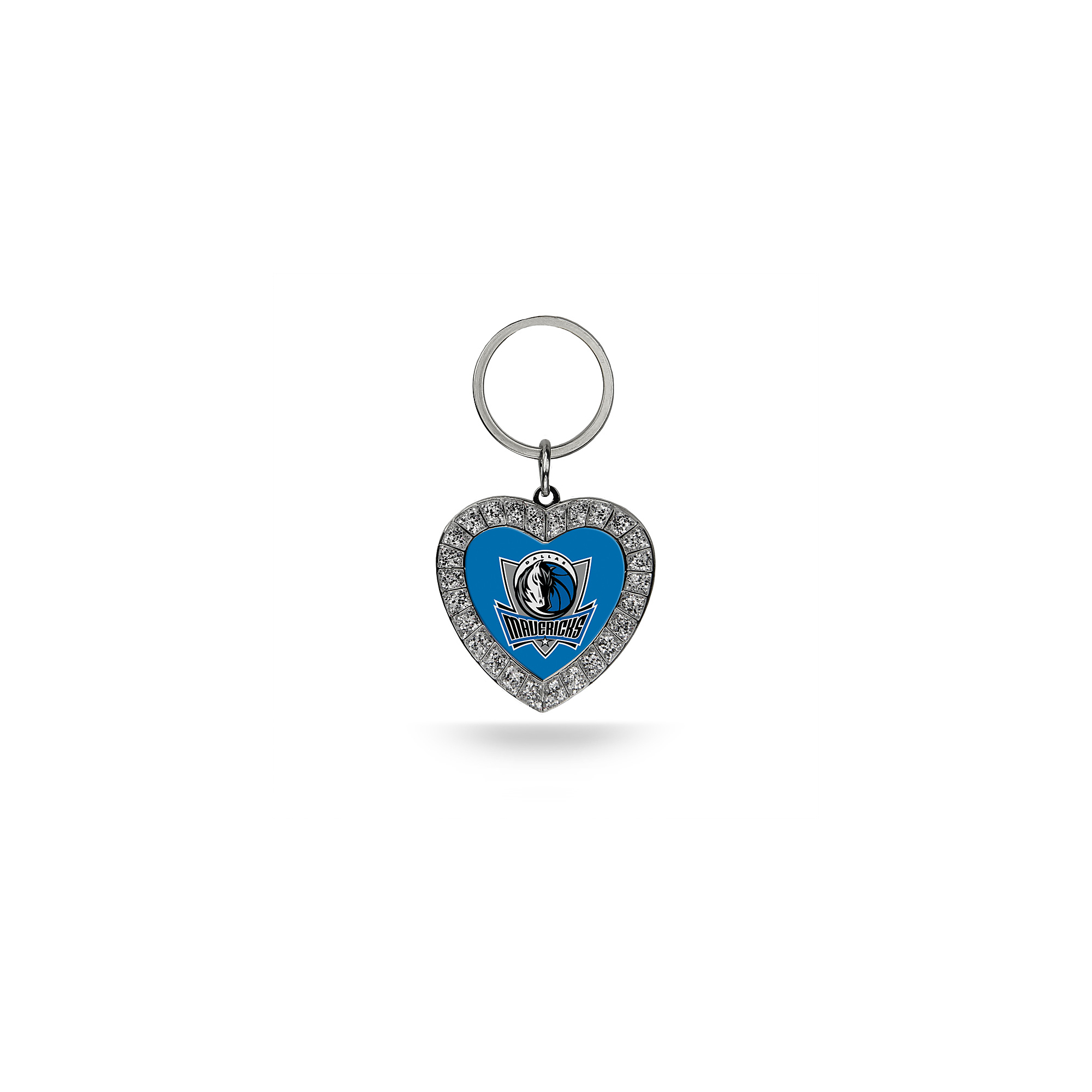 Dallas Mavericks Rhinestone Heart Keychain