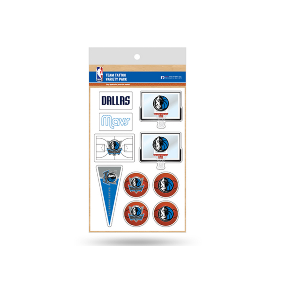Dallas Mavericks Tattoo Variety Pack