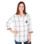 Dallas Mavericks Womens Plaid Button Down Top