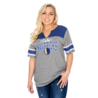Dallas Mavericks 47 Womens Triblend Striped Sleeve T-Shirt