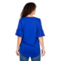 Dallas Mavericks Gameday Couture Keyhole Ruffle Sleeve Tee