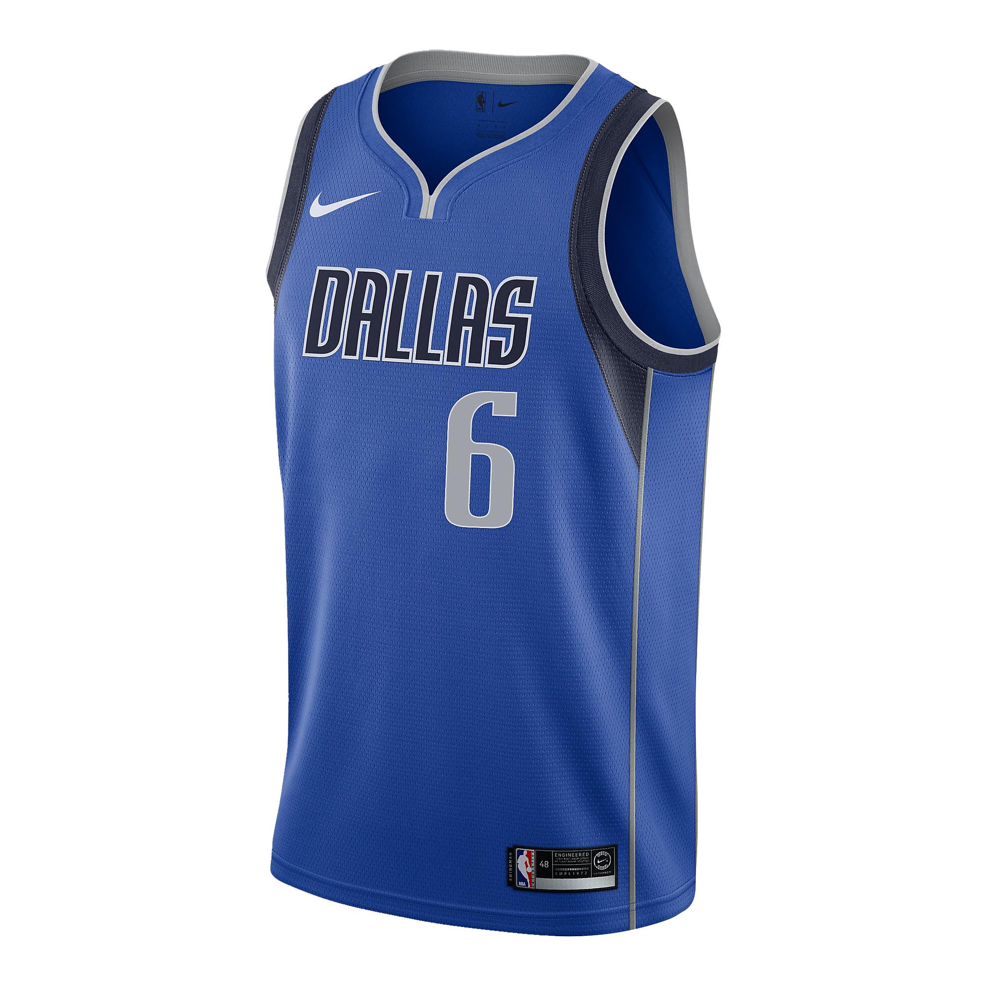 Dallas Mavericks Kristaps Porziņģis Nike Royal Replica Swingman Road Jersey