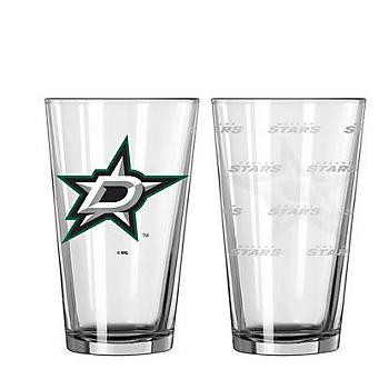 Dallas Stars 16 oz Satin Etch Pint