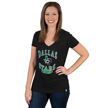 Dallas Stars 47 V-Neck Scrum Tee