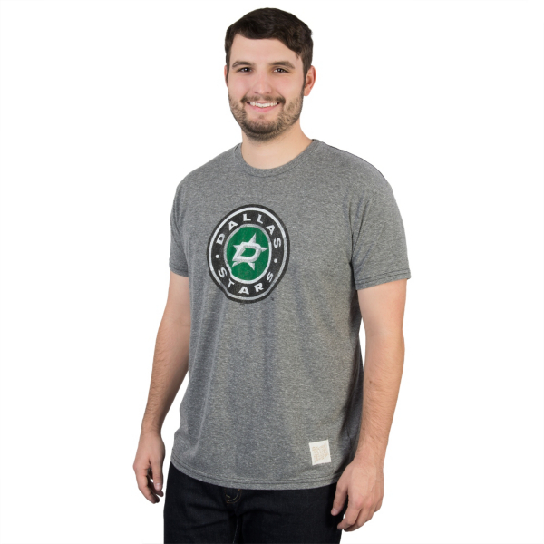 Dallas Stars Retro Brand Triblend Circle Tee