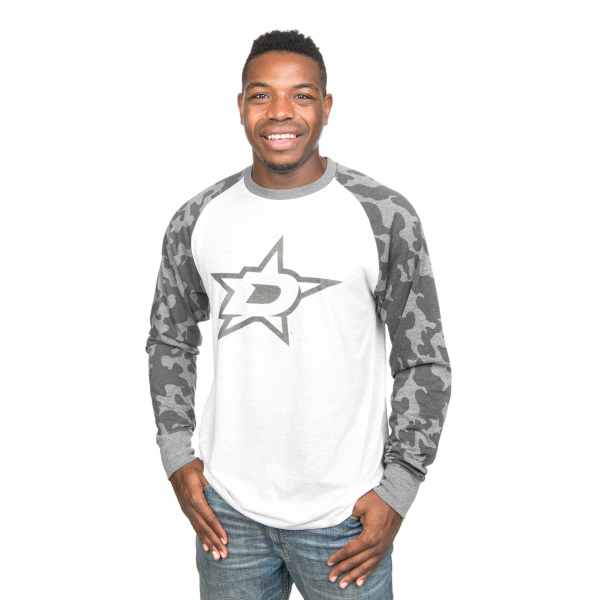 Dallas Stars 47 Brand Stealth Camo Raglan Tee