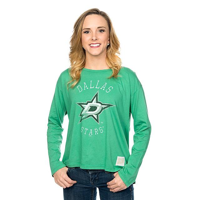 Dallas Stars Retro Ladies Long Sleeve Fashion Tee