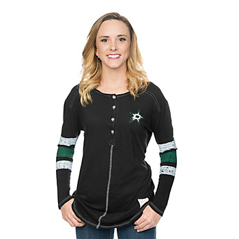 Dallas Stars Retro Ladies Relaxed Henley