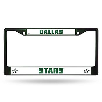 Dallas Stars Colored Chrome License Plate Frame