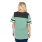 Dallas Stars 47 Womens Triblend Striped Sleeve T-Shirt