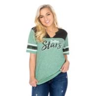 Dallas Stars 47 Womens Triblend Striped Sleeve T-Shirt