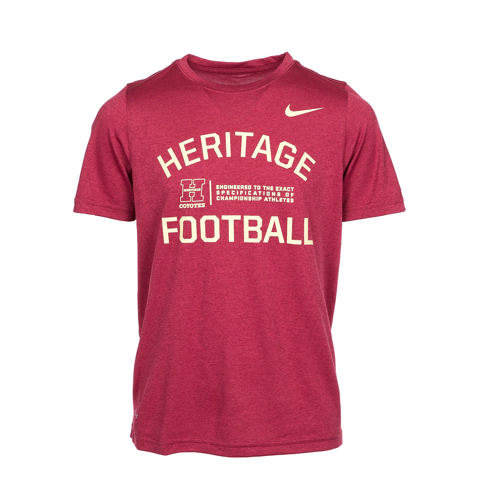 Heritage Coyotes Nike Boys Legend Short Sleeve Tee