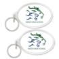 Reedy Lions Oval Acrylic Key Ring
