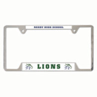 Reedy Lions Metal License Plate Frame