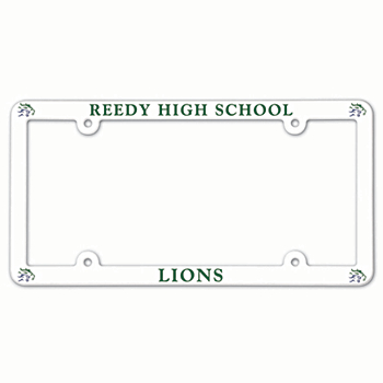 Reedy Lions Plastic License Plate Frame