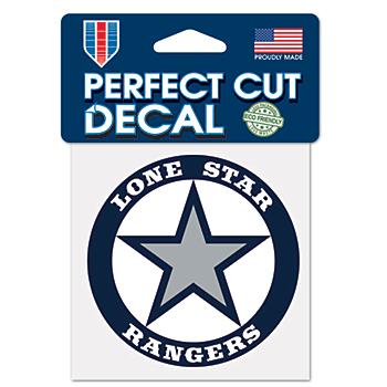 Lone Star Rangers 4x4 Perfect Cut Decal