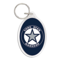 Lone Star Rangers Oval Acrylic Key Ring