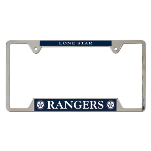 Lone Star Rangers Metal License Plate Frame