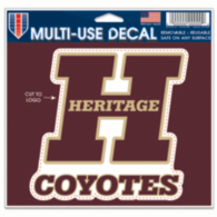 Heritage Coyotes 5x6 Multi Use Decal