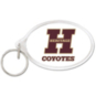 Heritage Coyotes Oval Acrylic Key Ring
