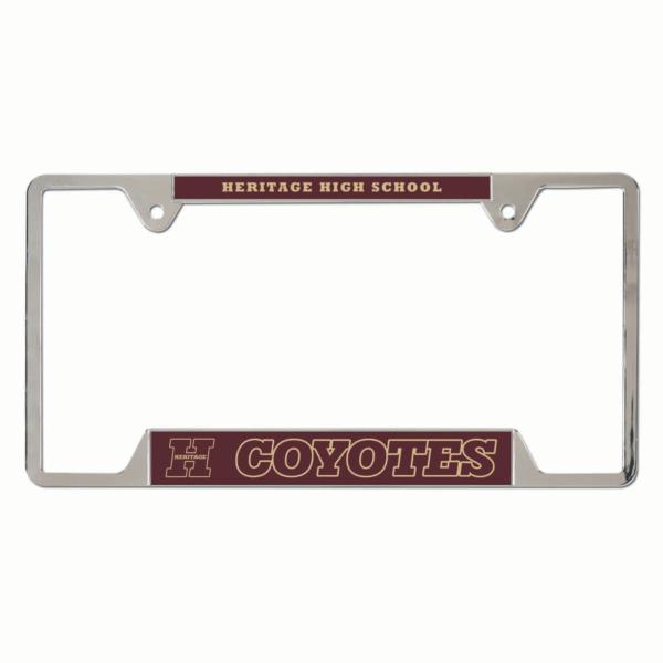 Heritage Coyotes Metal License Plate Frame