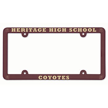 Heritage Coyotes Plastic License Plate Frame