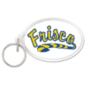 Frisco Raccoons Oval Acrylic Key Ring