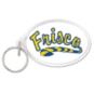 Frisco Raccoons Oval Acrylic Key Ring