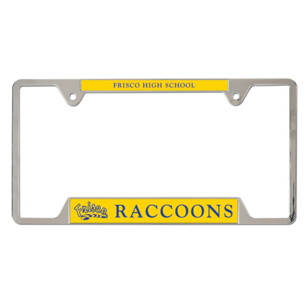 Frisco Raccoons Metal License Plate Frame