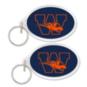 Wakeland Wolverines Oval Acrylic Key Ring