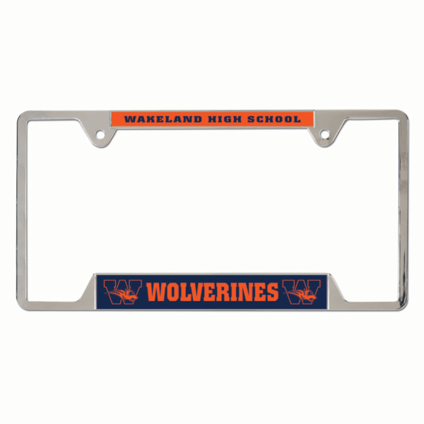 Wakeland Wolverines Metal License Plate Frame
