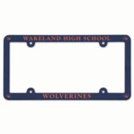 Wakeland Wolverines Plastic License Plate Frame