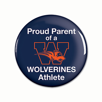 "Wakeland Wolverines 3"" Round Button"