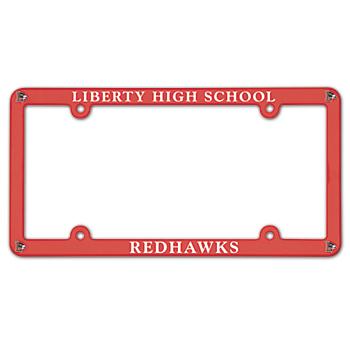 Liberty Redhawks Plastic License Plate Frame