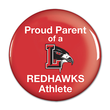 "Liberty Redhawks 3"" Round Button"
