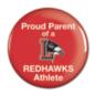 "Liberty Redhawks 3"" Round Button"