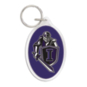 Independence Knights Oval Acrylic Key Ring